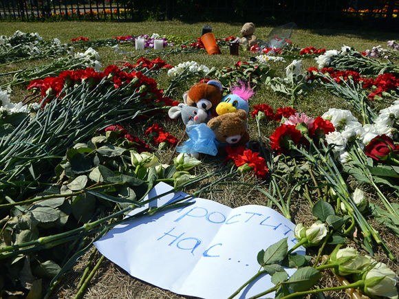 Родные жертв рейса MH17 собрались у посольства РФ в Гааге, чтобы «пристыдить Москву»