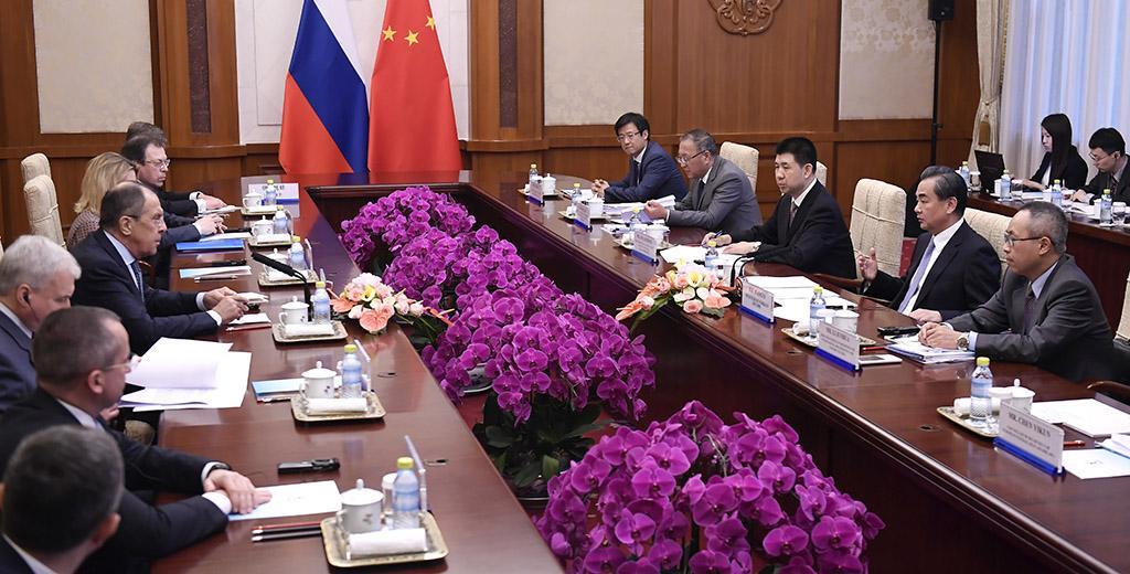 Сергей Лавров на переговорах в Пекине
