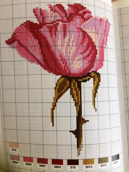 Вышивка крестом цветов --  схемы для вышивания роз. Может кому-нибудь пригодится?