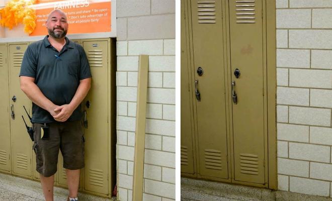 Сумка за шкафчиком в школе лежала 60 лет. Охранник случайно ее нашел и сделал фото забытых вещей Культура