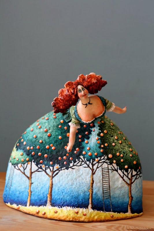 Доброта в куклах или фантазии Екатерины Гусевой куклы и игрушки,папье-маше,разное