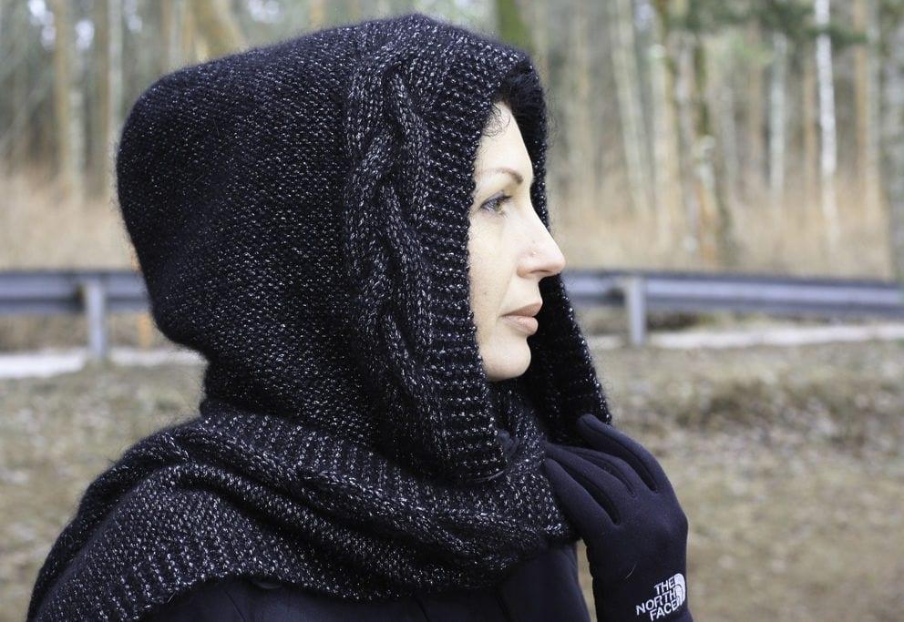 Капор вязание спицами картинки