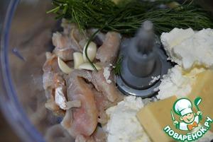 Кальмары, фаршированные сырным муссом ингредиенты