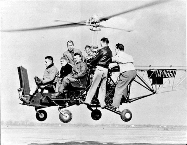 """23. Испытание раннего вертолета """"Белл-30"""", 1946 год архив, исторические фото, фото, фото из прошлого"""