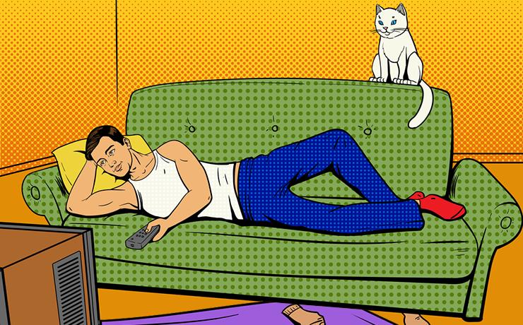 Лежание на диване прикольные картинки, днем рождения