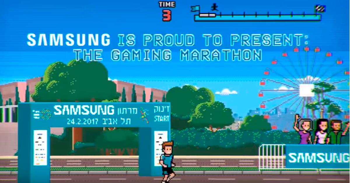Samsung подключил ноги марафонцев к сбору денег на благотворительность