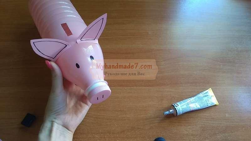 Поделка к Новому 2019 году «Копилка свинка» из бутылки: пошаговый мастер-класс и видео урок очумелые ручки