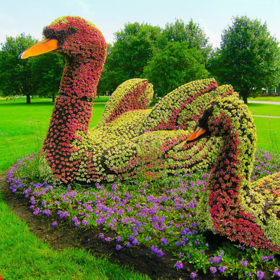 Монументальные скульптуры из растений
