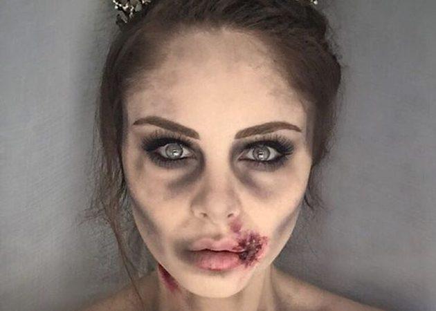 Макияж на Хеллоуин: 10 прекрасных ужасных идей красота,макияж,праздник,Хеллоуин