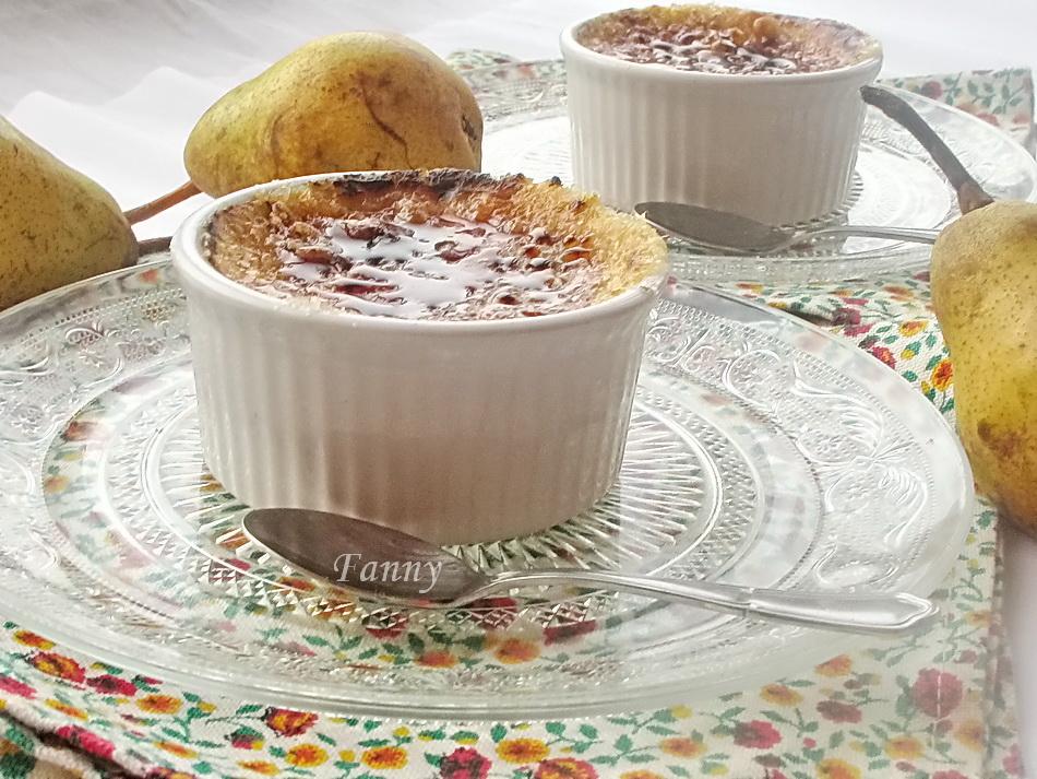 Десерт с грушами а-ля крем-брюле десерты