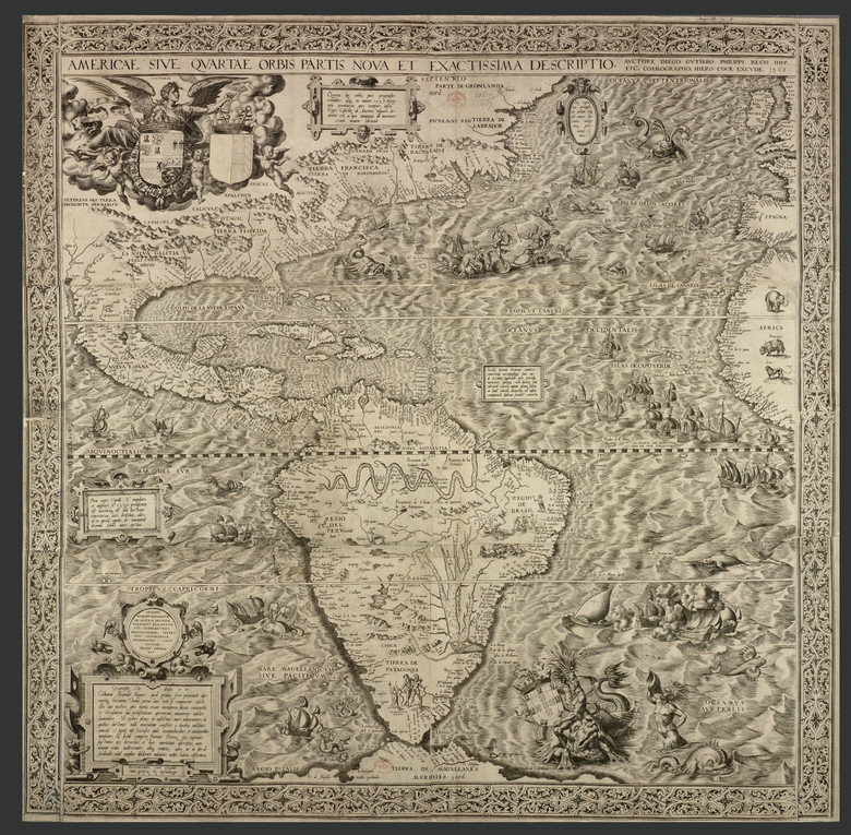 На карте 16 века нашли рисунок русалки, держащей в руках НЛО