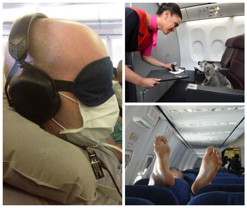 Когда в самолет садится странный народ