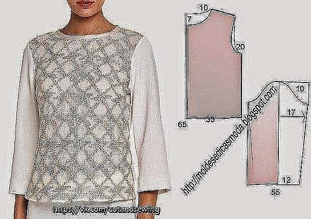 В копилку любителей шитья. Выкройки блузок. Размеры ЕВРО