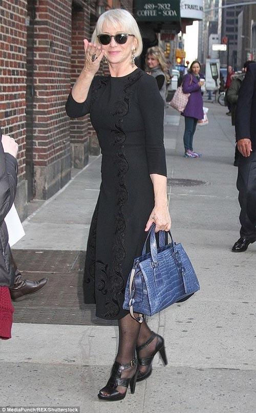 Хеллен Миррен в черном платье