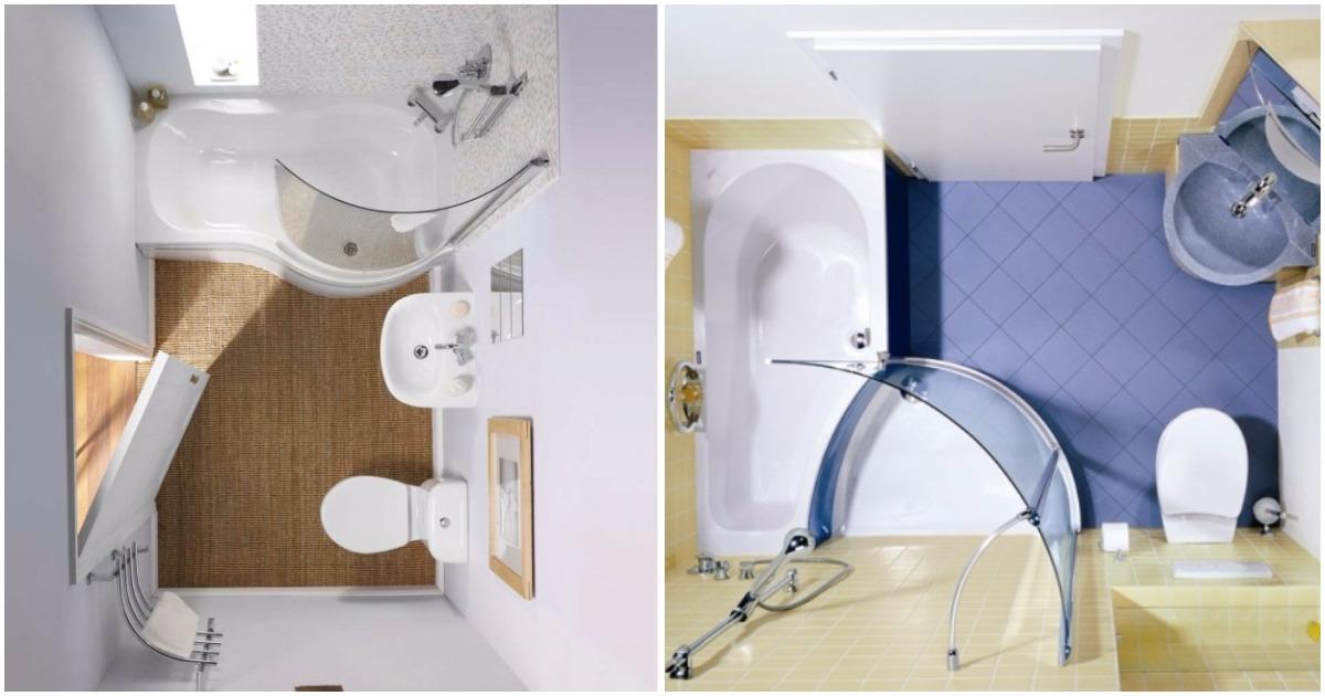 8 гениальных идей для обустройства маленькой ванной комнаты