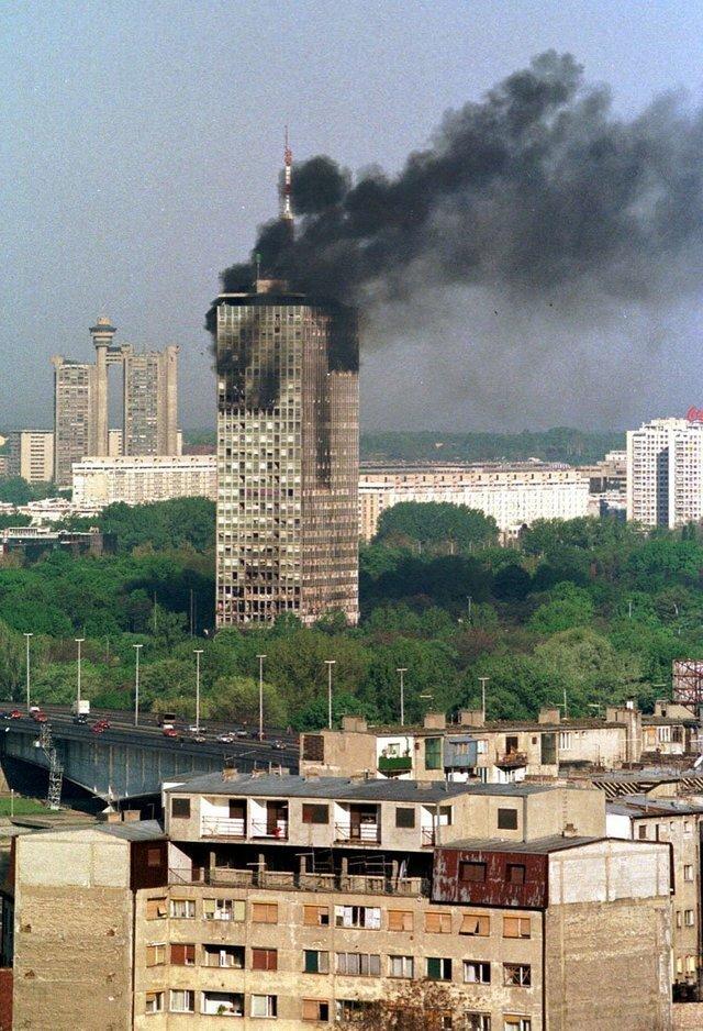 19. Последствия бомбардировки в Белграде во время войны в Косово, 1999 год архив, исторические фото, фото, фото из прошлого