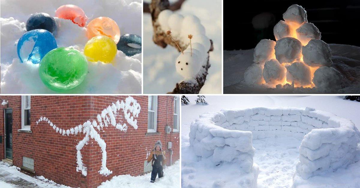 Не бабой единой: 7 вариантов поделок из снега