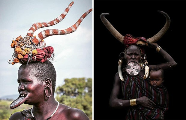 Красота девушек племени Мурси африка