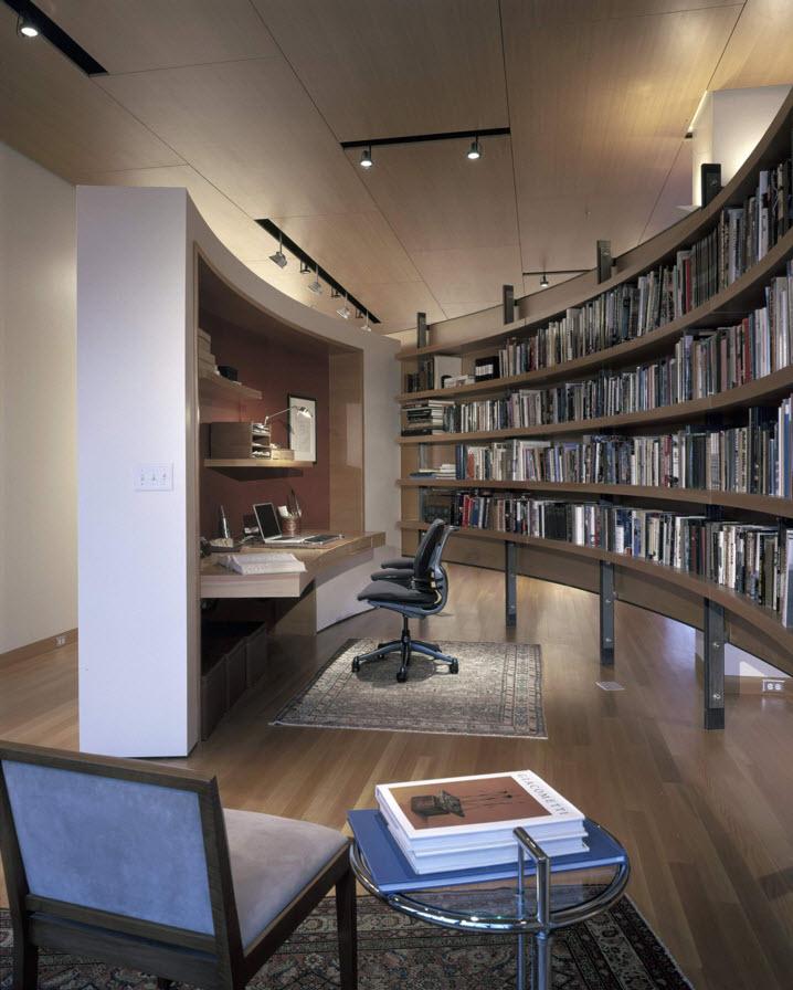 Округлый стеллаж для книг