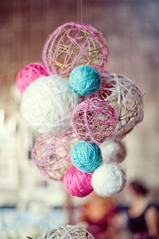 Делаем сами: шары из ниток