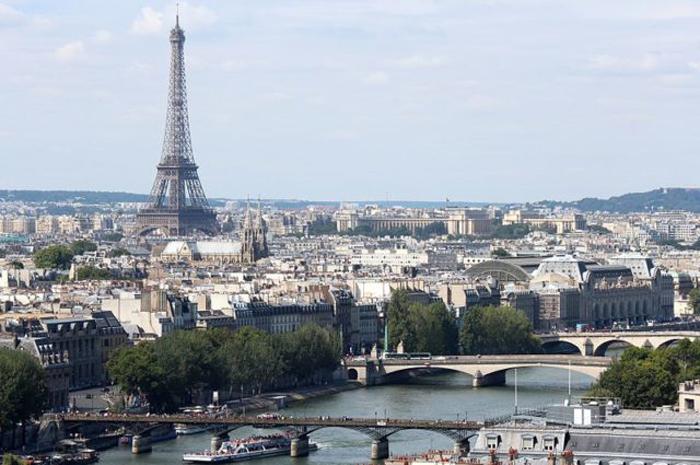 Панорама Парижа.