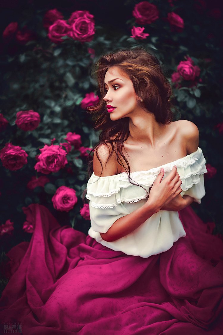 Открытки, картинки женские образы красивые романтичные без лица