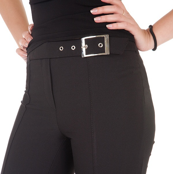 Фото готовых поясов на сшитых женских брюках, вариант 3