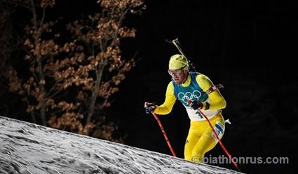 Шведские биатлонисты завоевали золото в эстафете на Олимпиаде-2018