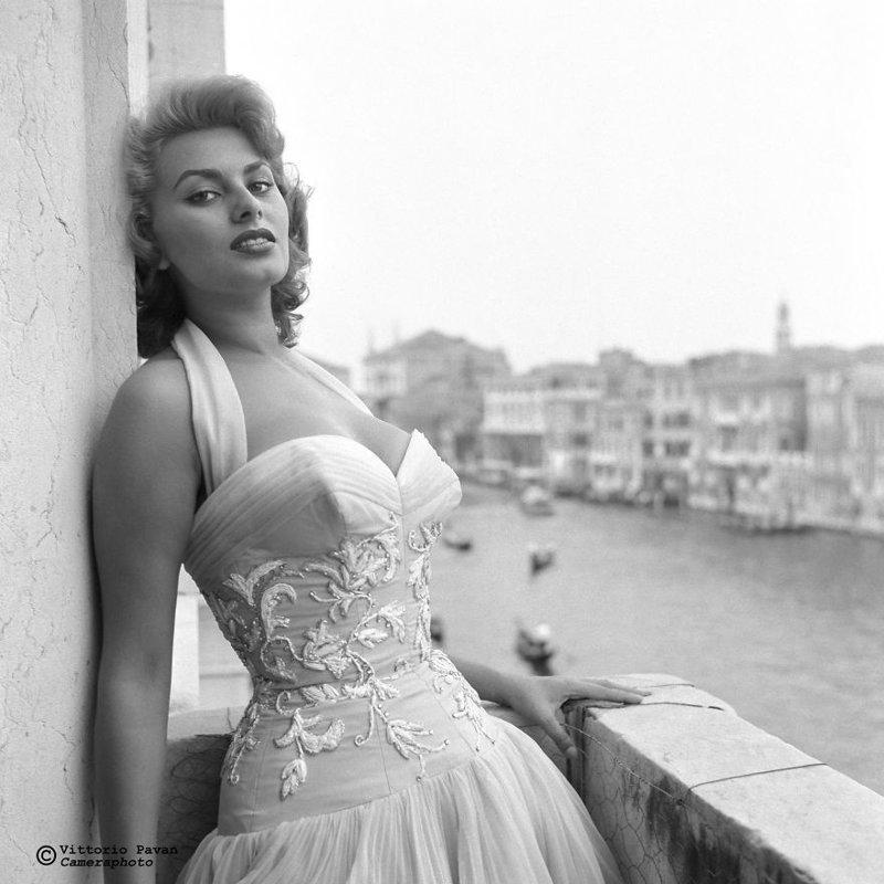 Софи Лорен архив, венеция, негативы, фотографии