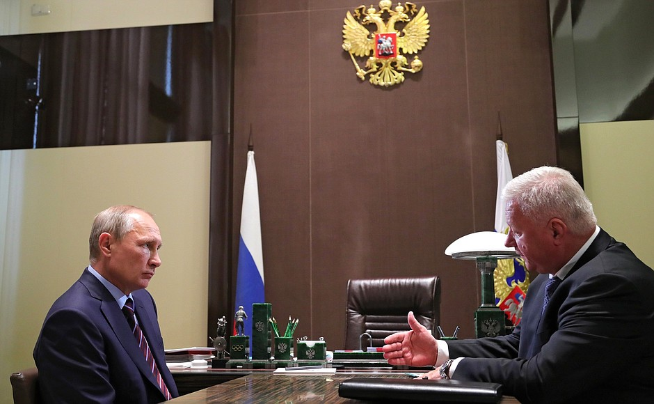 Встреча с главой Федерации независимых профсоюзов Михаилом Шмаковым
