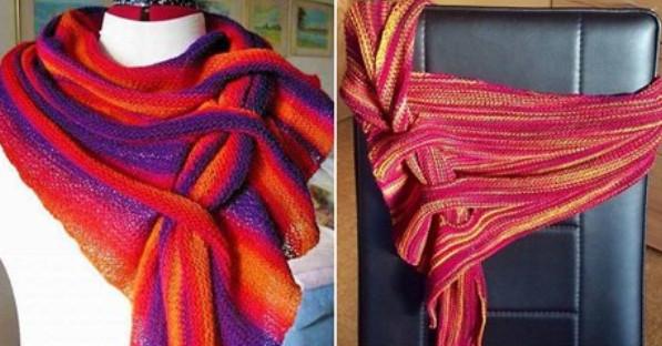 Норвежский треугольный шарф …