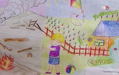 """В Петербурге при поддержке """"ТВ Центра"""" выставили рисунки детей Донбасса"""