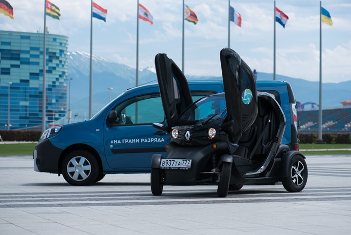 Электромобили Renault приняли участие в пробеге «На грани разряда»