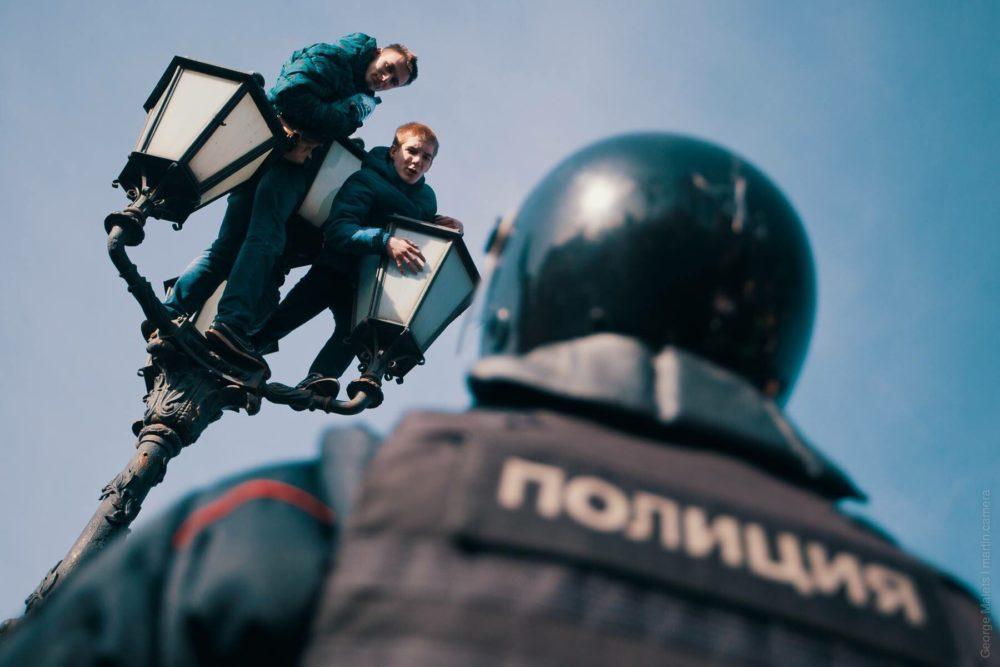 Школьники на митингах Наваль…