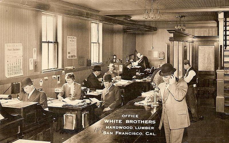 Офисы сто лет тому назад