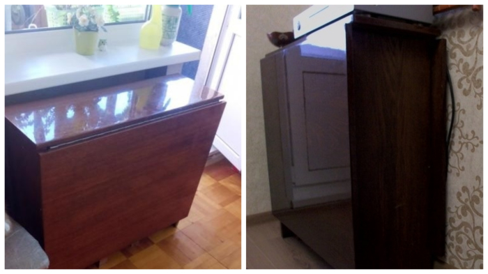 Полированный стол-«книжка»: такой родной, что даже после ремонта невозможно выбросить…