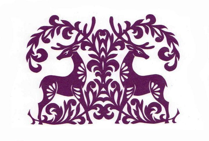 Вытынанка олени
