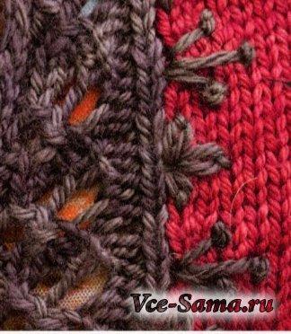 """ВЯЖЕМ. Пуловер """"Красное и чёрное"""""""