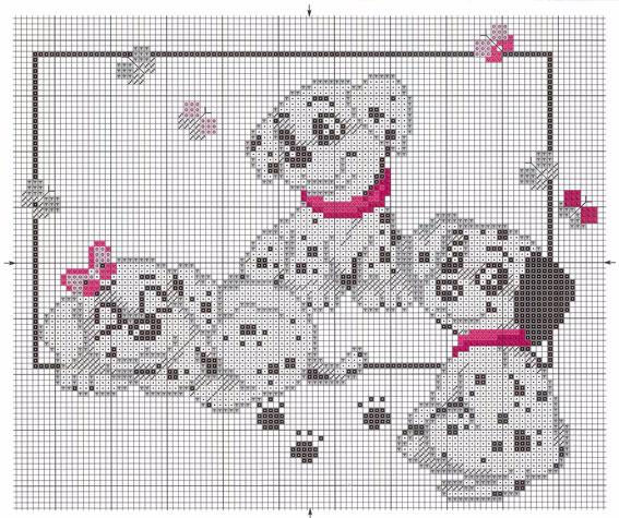 схема-вышивки-кота-мышки-ежика-собаки (567x475, 316Kb)