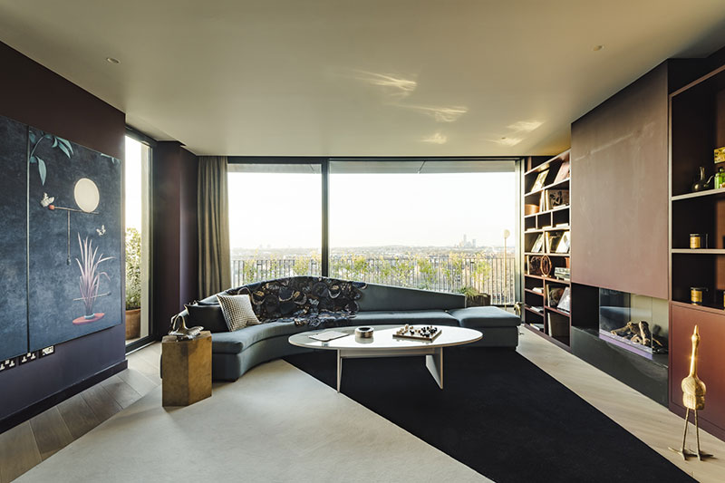Необычная цветовая гамма для современных апартаментов в Лондоне англия