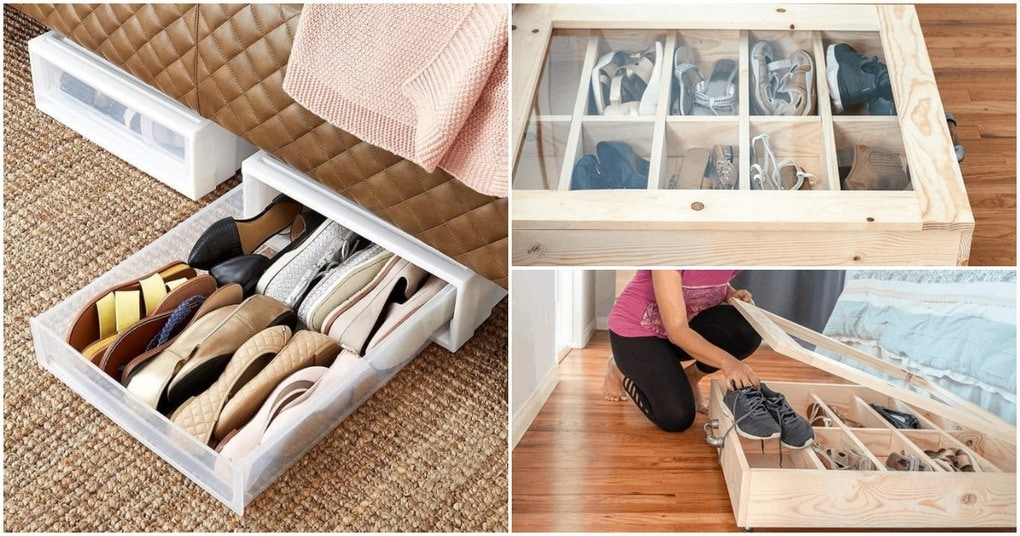 Сделайте практичный органайзер под кроватью своими руками