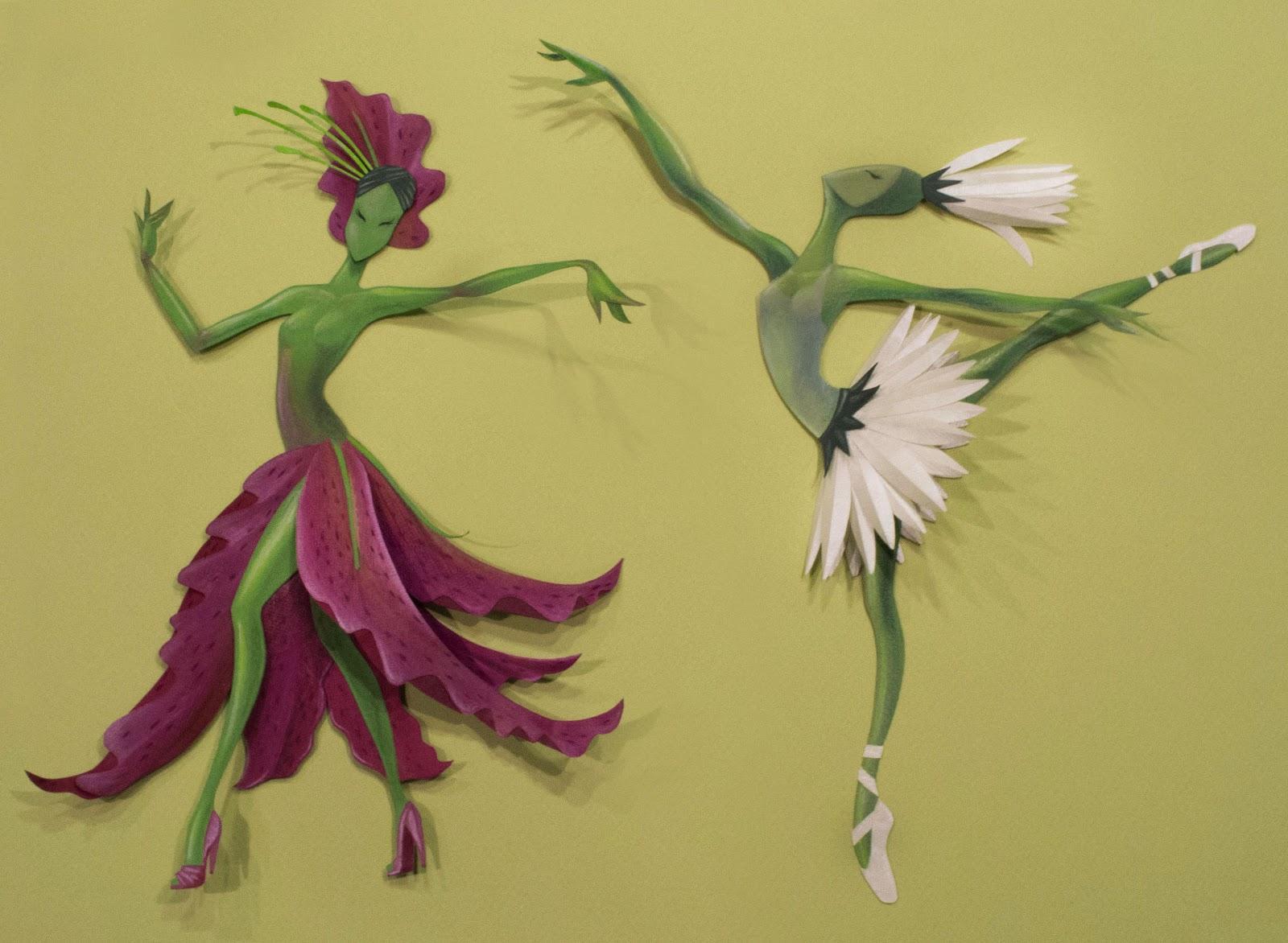Танец с цветами картинки, смешные аниме