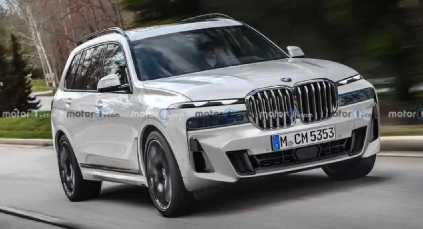 Представлены рендеры нового BMW X7 с раздельными фарами на основе шпионских фото Автомобили