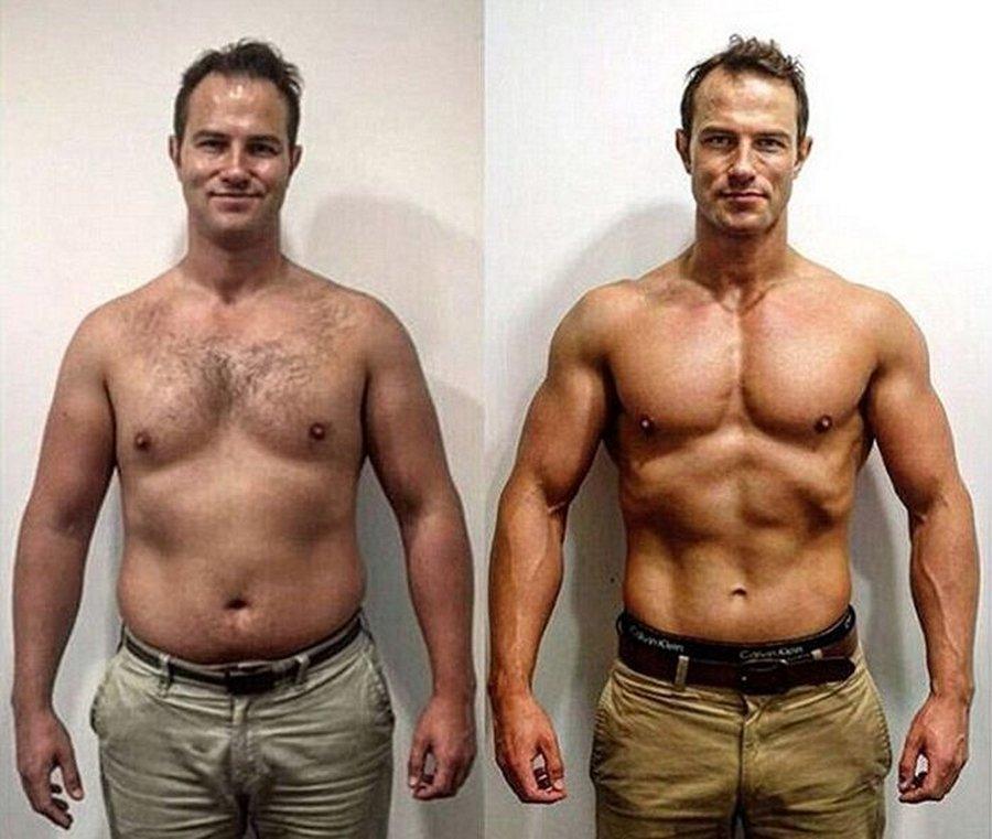 Мужчина быстро похудели