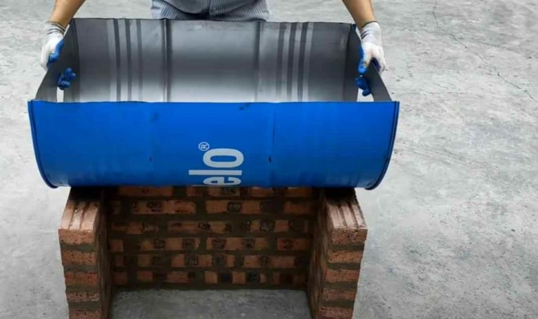 Уличная печка из металлической бочки для дома и дачи,мастер-класс