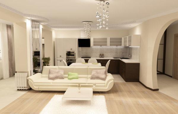 Как создать стильную гостиную в пастельных тонах