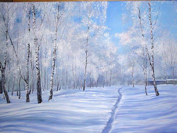 Зима в работах художников Ивана и Татианы Вохминых