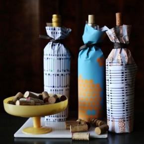 упаковать бутылки в подарок