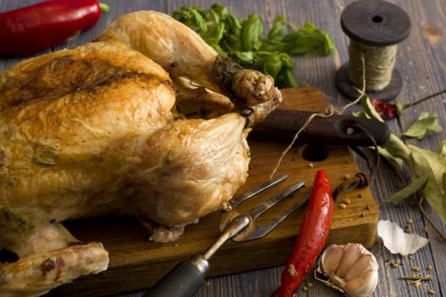 Запеченная на соли курица