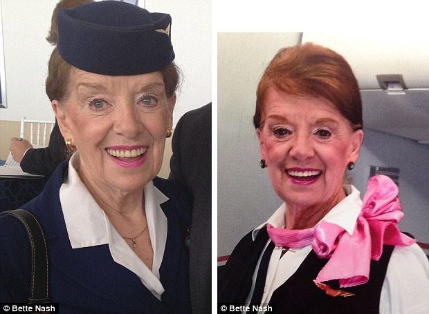 80-летняя стюардесса продолжает работать на рейсах из Вашингтона в Бостон